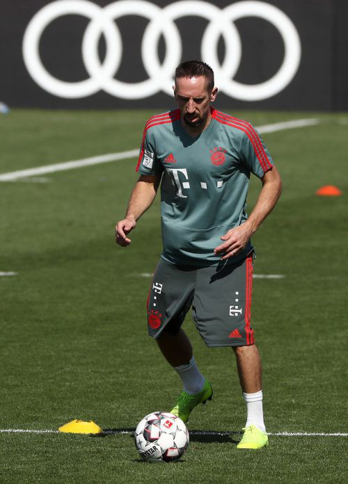 Franck Ribéry hat zu Beginn des Trainingslagers in Doha für Aufregung gesorgt.afp