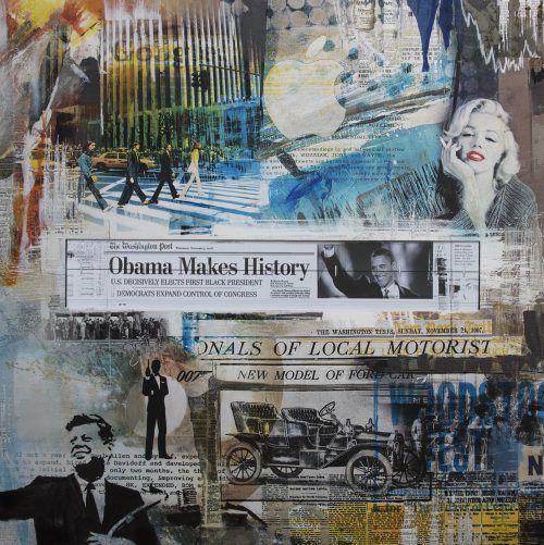 Frank und Philipp Baumann verwenden in ihren Bildwerken Elemente und Techniken der Pop-Art, um zeitgenössi-sche Erzählungen einzufangen oder die Vergangenheit mit dem Heute zu verbinden. marilyn/Frank und philipp baumann