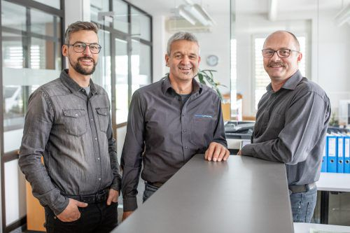 Führungstrio (v.l.): Urs Schwarz, Luis Rehm und Reinhard Haltmayer. Fa