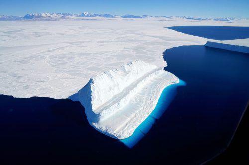 In den Jahren 2009 bis 2017 habe die Antarktis jährlich fast 252 Milliarden Tonnen Eis verloren. AFP