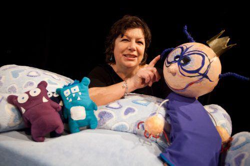 Iris Biatel-Lerbscher bietet seit Jahren mit ihren Kolleginnen gutes Puppentheater für Kinder an. VN/PS