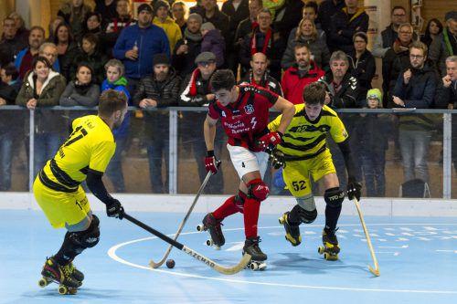 Höhepunkt des Finaltags in der Hockeayarena ist das Duell ab 17.30 Uhr um die Krone in der Rollhockey-Bundesliga.VN/STiplovsek