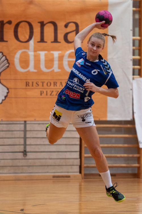 Julia Mayer erzielte gegen Perchtoldsdorf einen Treffer. VN/Lerch