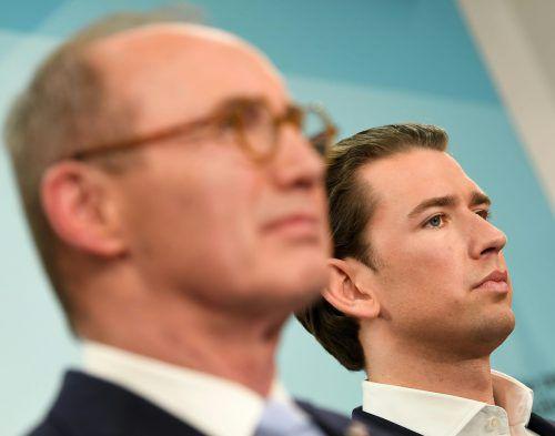 Karas (links) geht für die ÖVP als Spitzenkandidat ins Rennen. Er bezeichnete die EU-Wahl als Richtungsentscheidung. APA