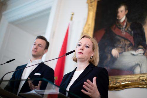 Kulturminister Blümel stellt die neue Bundesdenkmalamtschefin Erika Pieler vor. apa