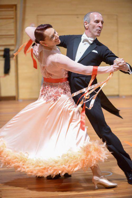 Kurt und Evelyn Summer vom TSC Swing&Dance Feldkirch holten drei Podestplätze in der Sonderklasse im Standard- und Lateinamerikanischtanz.Verband