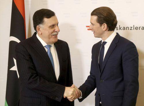 Libyens Regierungschef al-Farraj reiste zu einem Arbeitsbesuch nach Wien. AP