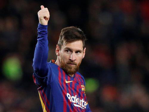 Lionel Messi ist mit Barça am Weg zum zehnten Meistertitel. Reuters