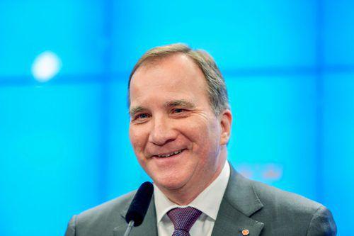 Löfven erhielt genug Stimmen, um eine zweite Amtszeit anzutreten. reuters