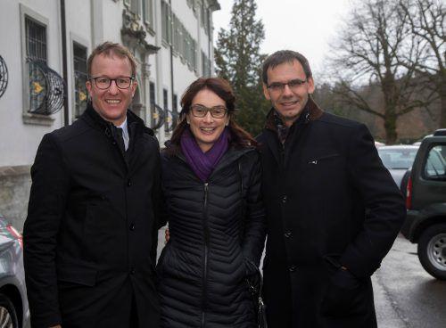 LR Christian Gantner (l.) sowie Landeshauptmann Markus Wallner und Sonja.