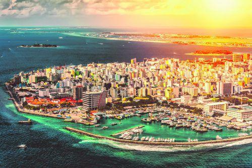 Malé gehört zu den am dichtesten bevölkerten Städten der Welt.
