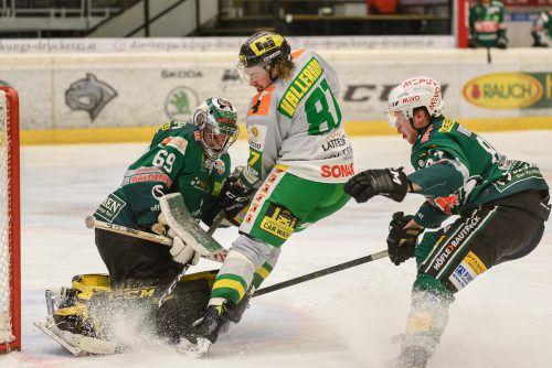 Marc-Olivier Vallerand erzielte den Treffer zur zwischenzeitlichen 3:1-Führung für den EHC Lustenau.VN/Stiplovsek