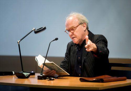 Michael Köhlmeier liest im Saumarkt aus seinem neuen Roman. VN/Paulitsch
