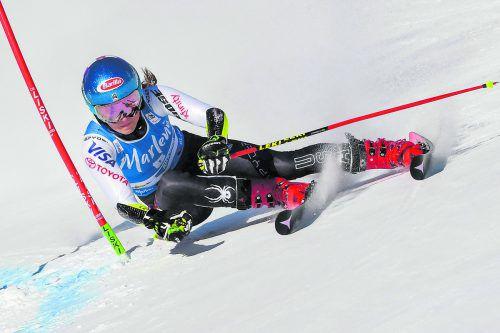 Mikaela Shiffrin gab beim Riesentorlauf am Kronplatz der Weltcup-Konkurrenz klar das Nachsehen. apa