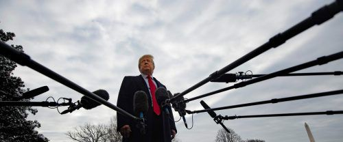 Mit den Demokraten streitet Trump gerade über die von ihm geplante Grenzmauer. AFP