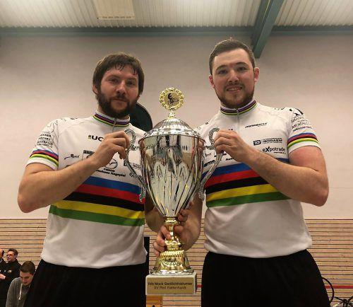 Nach EM- und WM-Gold gehen Markus Bröll (l.) und Patrick Schnetzer als Titelverteidiger beim Weltcupfinale als Favoriten ins Rennen.Verein
