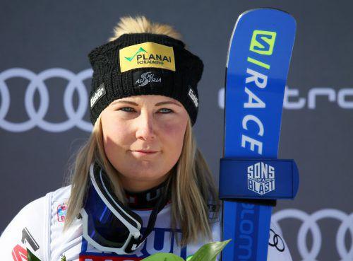 Nach fast zwei Jahren wieder auf dem Weltcup-Podest:Tamara Tippler. gepa