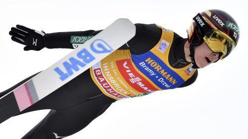 Nach Sven Hannawald (2002) und im Vorjahr Kamil Stoch könnte Ryoyu Kobayashi (Bild) als dritter Springer in der Geschichte mit Siegen bei allen vier Bewerben die Vierschanzentournee für sich entscheiden. GEPA