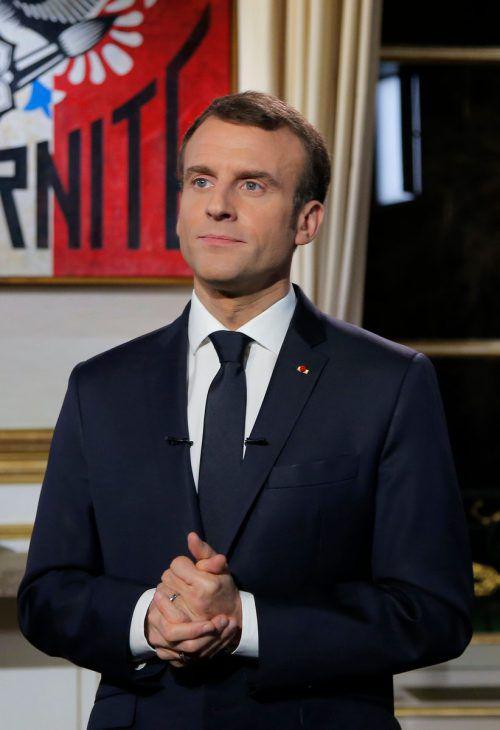 Nach Trump sagte auch der französische Präsidentseine Teilnahme ab. AFP