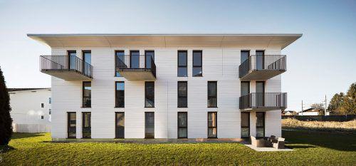 Neben Wohnungen errichtet Riva home auch Townhouses – 2019 in Hörbranz, Bludenz, Dornbirn, Kössen und Weiler (D). Fa/Schnabel