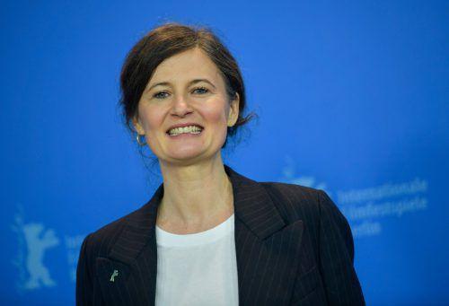Pernille Fischer Christensen zeichnet den Weg von Astrid Lindgren nach.AFP
