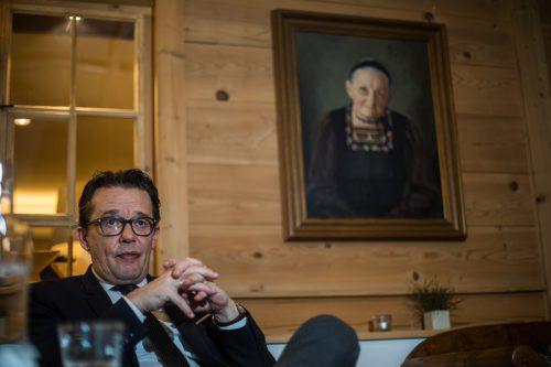 Präsident Metzler drängt zur Umsetzung der Zukunftsthemen. Großmutter Erna würde dem zustimmen, ist er sich sicher. VN/Steurer