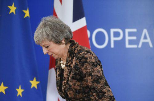 Premierministerin Theresa May hatte das Votum zunächst verschoben, da sich eine klare Ablehnung abzeichnete. AFP