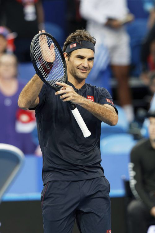 Roger Federer steht mit Partnerin Belinda Bencic im Finale des Hopman-Cups.ap
