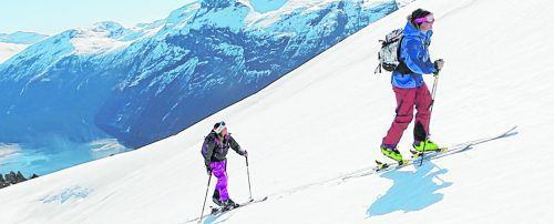 Skitouren am berühmten Geirangerfjord in Norwegen.Fredrik Schenholm - Visitnorway.com