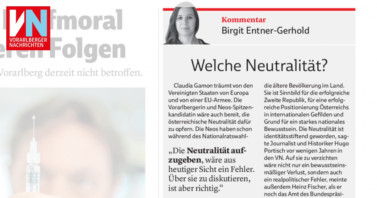 Welche Neutralität Vorarlberger Nachrichten Vnat