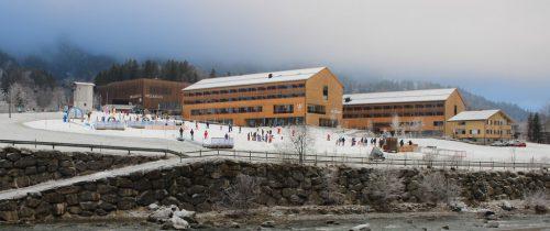 So sah es zwischen Weihnachten und Neujahr bei der Talstation der Mellaubahn aus: Perfekte Bedingungen für die Kids.