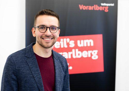 Der 25-jährige Christian Zoll startet für die ÖVP von Listenplatz neun ins Rennen. VN
