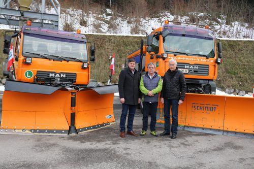 Stadtrat Allgäuer, Bauhofleiter Uwe Bächle und Bürgermeister Berchtold.