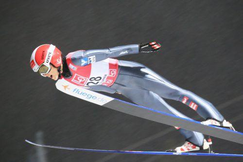 Starker Jahresbeginn für Eva Pinkelnig, die in Sapporo mit zwei absoluten Toprängen von der Großschanze aufhorchen ließ.gepa