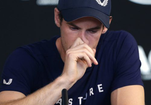 Tränen flossen bei Andy Murray, als er anlässlich der Melbourne-Pressekonferenz über seinen bevorstehenden Rücktritt sprach.ap