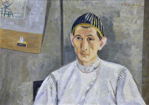 Wacker-Arbeiten werden im Rohnerhaus mit jenen seiner Freunde und Kollegen präsentiert. Das Bild ist ein Porträt des Bregenzer Malers von Oswald Baer.