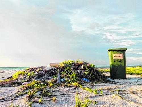 Wie viele Inseln haben auch die Malediven ein Müllproblem.
