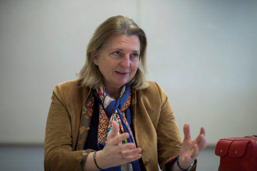 """""""Wir sollten nicht in apokalyptische Depressionen fallen"""", meint die Ministerin.VN/paulitsch"""