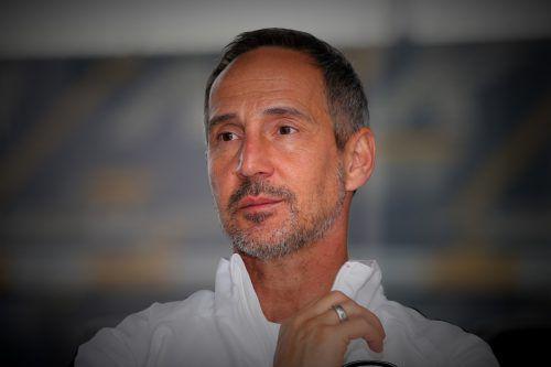 Adi Hütter will mit Frankfurt weiterGeschichte schreiben. gepa