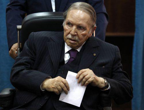 Algeriens Präsident Abdelaziz Bouteflika will es noch einmal wissen. AP