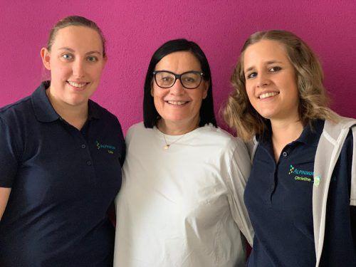 Assistentinnen Lisa Leichtfried (l.), Helga Zumtobel-Rainer und Christine Marth.