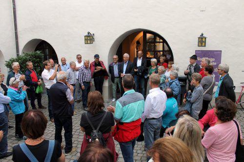 Auf dem Programm stand u. a. ein Besuch der Jubiläumsausstellung. Stadt