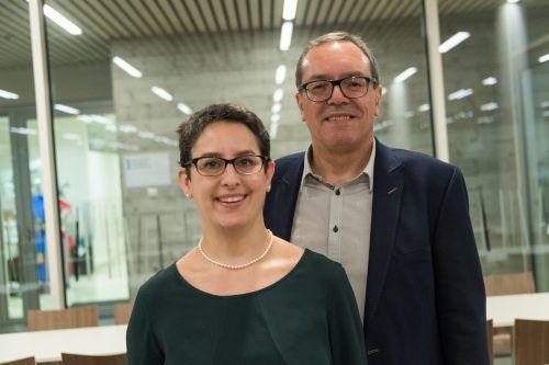 Begeisterte Zuhörer: Agnes Zeiner und Arno Sprenger.