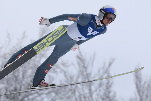 Bei seiner Rückkehr in den Weltcup konnte sich Gregor Schlierenzauer über den Sieg im Teambewerb freuen.Gepa