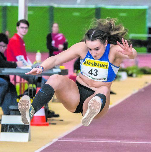 Chiara-Belinda Schuler von der TS Hörbranz wurde in souveräner Manier ÖLV-U-20-Meisterin im Fünfkampf.ÖLV