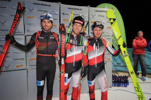 Daniel Zugg (Mitte) holte sich den Gesamtsieg und ÖM-Titel.Posch