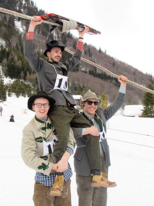 Das Siegerteam der HM Klösterle ließ sich feiern.