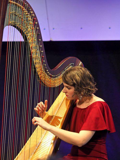Das Solokonzert der Wiener Harfenistin Elisabeth Plank begeisterte. hv