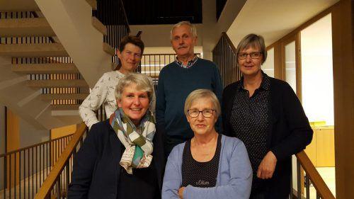 Das Team Vorderwald mit Susanne Gamper, Ludwig Iselor, Siegrid Lässer, Marion Maier und Germana Kifner. me