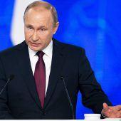 Putin warnt USA vor weiterem Konfrontationskurs